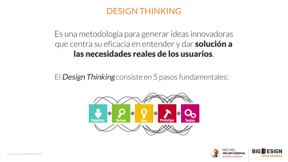 Design Thinking @ Design is how it works @ La importancia del diseño en la experiencia de usuario, mi charla en el Big Design La Ecuador