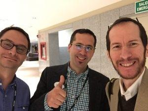 Con Francisco salvador y Jason Lewis