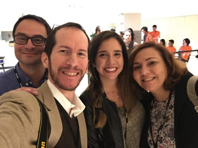 Con Francisco salvador, Ma. Isabel Murillo y Ania Rodriguez