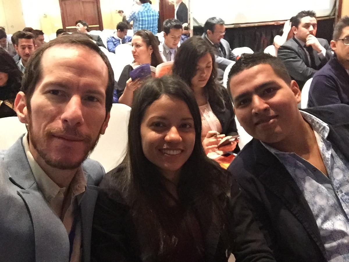 Con Vicky Valverde y Luis Coello en el Ecommerce Day Ecuador 2016